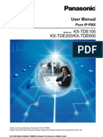 User Guide PBX PANASONIC TDE 100_200_600_versi3
