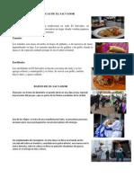 Comidas Tipicas de El Salvador Cultura Trajes