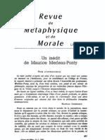 Merleau-Ponty, Inédit (1962)