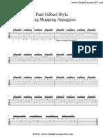 Paul Gilbert Style String Skipping Arpeggios