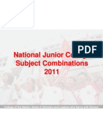 2011 JC Subject Combination Presentation