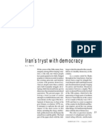 Iran's Tryst With Democracy