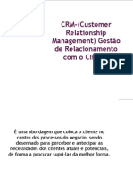 CRM-(Customer Relationship Management) Gestão de
