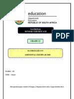 NCS 2008 mathematics exam