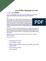 Microsoft Office-language Settings