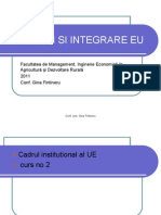 Institutii Si Integrare EU