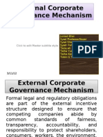 External Corporate Governance Mechanism
