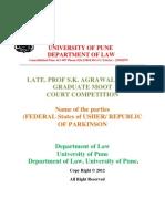 Prof Agarawala Moot Court-1 4-1-2012