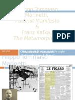 Marinetti (Futurist Manifesto), Kafka Metamorphosis) - Manifestos, Futurism, Existentialism & More