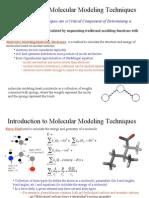 Intro 2 Molecular Modelling & Molecular Mechanics