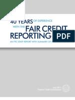 FCRA 40 Years Report (2011)
