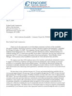 "Encore Capital, Midland Funding, Midland Credit Managament, and other subsidiaries comments to the FTC on ""Protecting Consumers in Debt Collection Litigation and Arbitration"" (2009)"