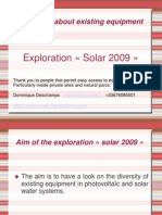 English Exploration Solar 2009