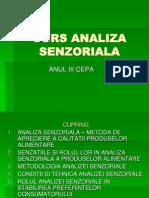 Analiza Senzoriala