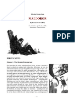 Selected Poems From Maldoror (by Lautreamont