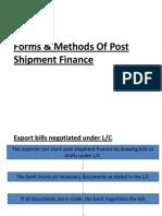 Post Shipment Finance