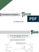 Presentation on subprime criseis