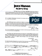 Piano Exercices Jerry Gray - Jazz Hanon