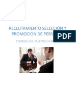 RECLUTAMIENTO SELECCIÓN Y PROMOCION DE PERSONAL