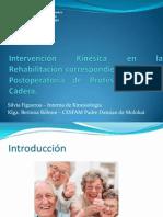 Intervención Kinésica RHB protesis cadera