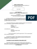Grantor Information Sheet