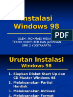 2. Instalasi Win98