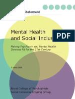 Inclusión social y salud mental