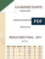 PLANEJAMENTO DE ACOLHIMENTO - 2012