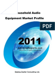 China Household Audio Equipment Market Profile
