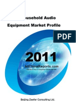 China Household Audio Equipment Market Profile
