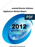China Household Electric Kitchen Appliances Market Report