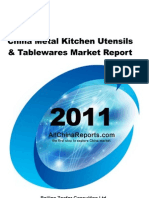 China Metal Kitchen Utensils Table Wares Market Report