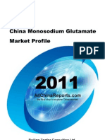 China Mono Sodium Glutamate Market Profile