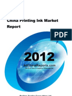 China Printing Ink Market Report