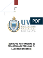 Concepto y Estrategias de Desarrollo de Personal en Las Organizaciones Tarea Paty