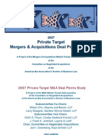 ABA 2007 Private Target Deal Points Survey