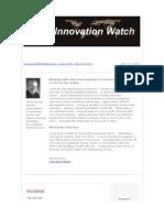 Innovationwatch Newsletter 11.05 - March 10, 2012