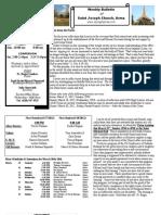 St. Joseph's March 11, 2012 Bulletin
