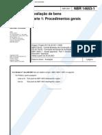 NBR 14653-1 - 2001 - Avaliação de Bens - Procedimentos Gerai