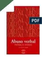 Abuso Verbal La Violencia Negada Patricia Evans
