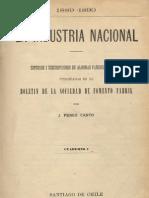 La industria nacional 1889-1890. Estudios i descripciones de algunas fábricas de Chile publicadas en el Boletín de la Sociedad de Fomento Fabril. Cuaderno I. (1891)
