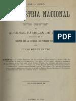 La industria nacional 1891-1893. Estudios i descripciones de algunas fábricas de Chile publicadas en el Boletín de la Sociedad de Fomento Fabril. Cuaderno II. (1893)
