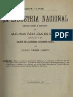 La industria nacional 1894-1895. Estudios i descripciones de algunas fábricas de Chile publicadas en el Boletín de la Sociedad de Fomento Fabril. Cuaderno III. (1896)