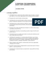 Communication Training Advance Level Proposal (2)