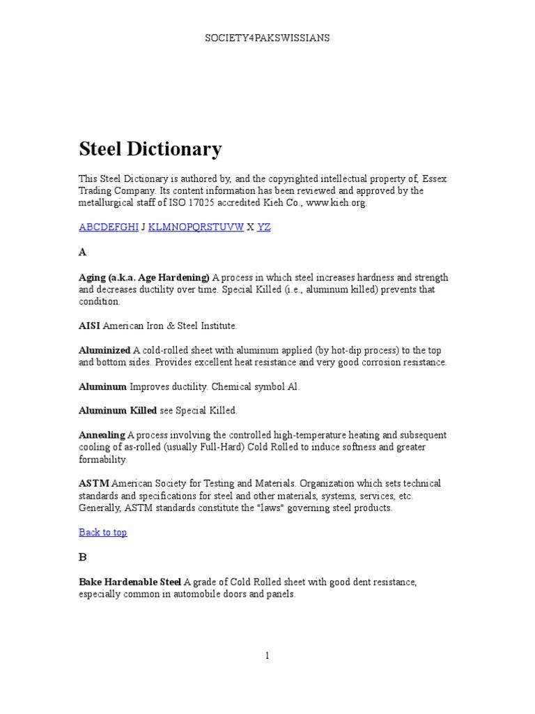 Steel dictionary rolling metalworking galvanization biocorpaavc Choice Image