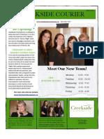 Creekside Newsletter Fall 2011 PDF