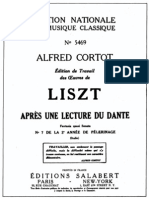 Cortot - Liszt - Dante Sonata