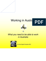 Working in Australia