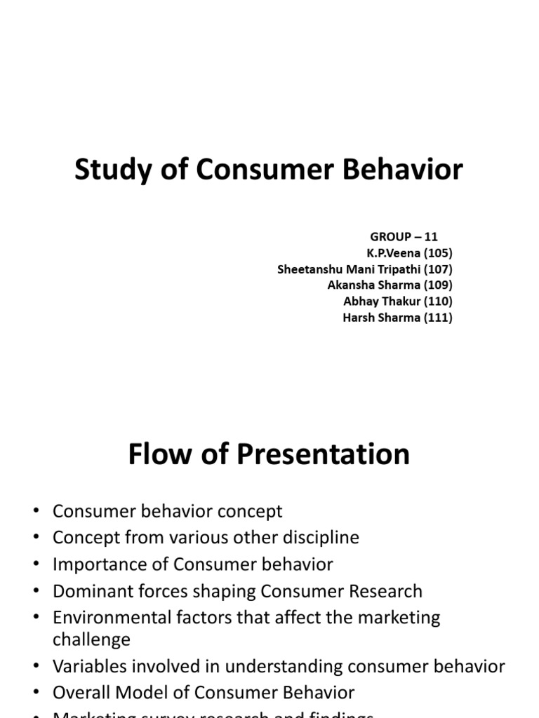 importance of consumer behavior to marketers