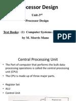 Unit 3rd Processor Design